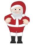 Chubby Weihnachtsmann steht alleine Stockfotografie