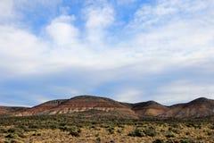 Chubut谷的美丽的荒地,阿根廷 免版税库存图片