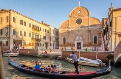 Chuch圣玛丽亚dei Carmini在威尼斯 库存图片