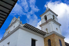 Chuch in Villa de Leyva Stock Photos