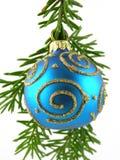 Chuchería azul de la Navidad Imagen de archivo libre de regalías