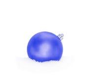 Chuchería azul del Año Nuevo de la Navidad Imagen de archivo libre de regalías