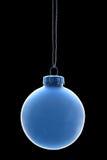 Chuchería azul en fondo negro Fotografía de archivo