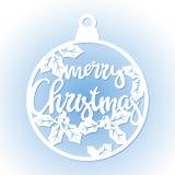 Chuchería a cielo abierto de la Navidad Plantilla de corte del laser ilustración del vector