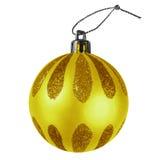 Chuchería de la Navidad - amarillo Foto de archivo