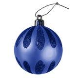 Chuchería de la Navidad - azul marino Foto de archivo