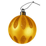 Chuchería de la Navidad - naranja Fotografía de archivo