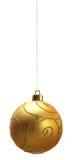 Chuchería de la Navidad - oro intric Fotos de archivo