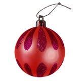 Chuchería de la Navidad - rojo Fotos de archivo