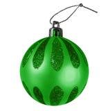 Chuchería de la Navidad - verde Fotos de archivo