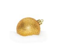 Chuchería del Año Nuevo de la Navidad del oro Fotos de archivo libres de regalías