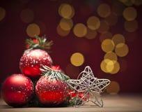 Chuchería del rojo de la Navidad Fotos de archivo libres de regalías