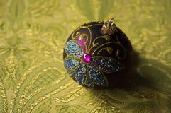Chuchería festiva de la decoración de la Navidad del brillo fotos de archivo