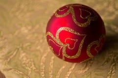 Chuchería festiva de la decoración de la Navidad del brillo fotografía de archivo