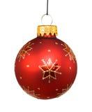Chuchería roja de la Navidad Fotografía de archivo libre de regalías
