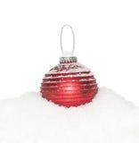 Chuchería roja del Año Nuevo de la Navidad Imágenes de archivo libres de regalías