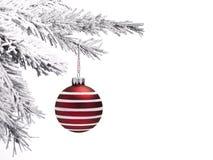 Chuchería y árbol de navidad fotos de archivo
