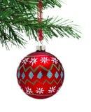 Chuchería y árbol de navidad fotografía de archivo