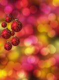 Chucherías colgantes de la Navidad Imágenes de archivo libres de regalías
