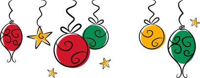 Chucherías coloridas de la Navidad Imagen de archivo
