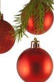 Chucherías de la decoración del árbol de navidad Foto de archivo libre de regalías