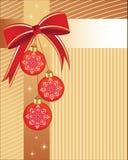 Chucherías de la Navidad con el abrigo stock de ilustración