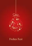 Chucherías de oro de la Navidad libre illustration
