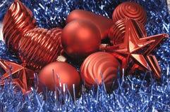 Chucherías del árbol de navidad foto de archivo libre de regalías