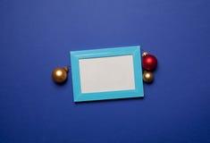 Chucherías del marco y de la Navidad de la foto Imagenes de archivo