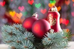 Chucherías del rojo de la Navidad Fotografía de archivo libre de regalías