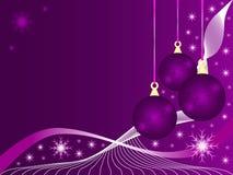 Chucherías púrpuras de la Navidad Fotos de archivo libres de regalías