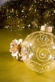 Chucherías para las decoraciones del árbol de navidad fotos de archivo