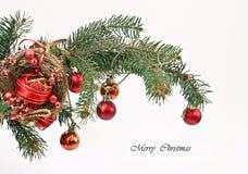 Chucherías rojas de la Navidad Imágenes de archivo libres de regalías