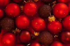 Chucherías rojas de la Navidad Foto de archivo