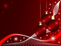 Chucherías rojas de la Navidad stock de ilustración
