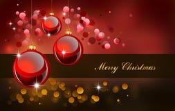 Chucherías rojas para la tarjeta de felicitaciones ilustración del vector