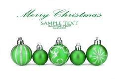 Chucherías verdes de la Navidad fotografía de archivo