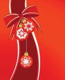 Chucherías y cinta de la Navidad ilustración del vector