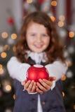 Chuchería roja decorativa de la Navidad Fotos de archivo libres de regalías