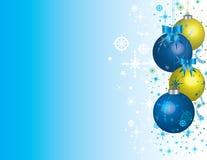 Chucherías de la Navidad con el espacio en blanco Foto de archivo libre de regalías