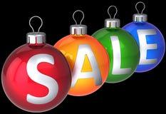 Chucherías de las bolas de la Navidad de la venta Fotografía de archivo