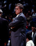 Chuck Daly, Detroit Pistons. Detroit Pistons head coach Chuck Daly.(Image taken from the color negative Stock Photography
