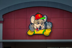 Chuck E Cheese logo. York, PA - December 30, 2016: Chuck E. Cheese is a chain restaurant offering entertainment and casual dining Royalty Free Stock Photos