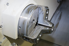 8 Chuck idraulico Tiri indietro il potere Chuck Fixture è ideale per l'applicazione lavorante sulla macchina di CNC Immagini Stock