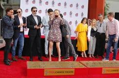 Chuck Lorre, Johnny Galecki, Jim Parsons, Kaley Cuoco, Simon Helberg, Kunal Nayyar, Mayim Bialik, Melissa Rauch stock image