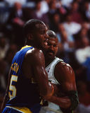 Chuck Person y Ricky Pierce Imagenes de archivo