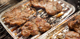 Chuck steak on a grill Stock Image
