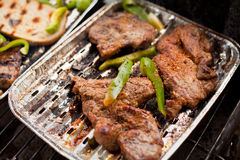 Chuck steak on a grill Royalty Free Stock Images