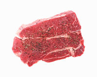 Chuck Steak Seasoned Top View Royalty Free Stock Photography