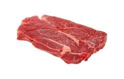 Chuck Steak Side View. A side view of a plain fresh cut chuck steak Stock Photography